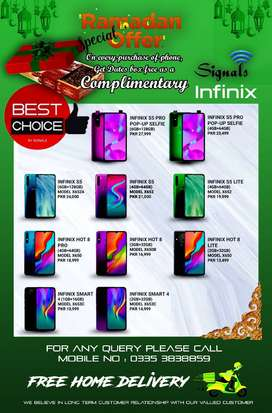 Infinix Box Pack Mobile phone sets Avaliable With Brand Warranty