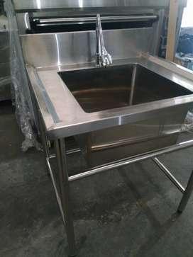 Tempat Cuci Piring / Meja Sink Stainless Body Kuat Dan Awet