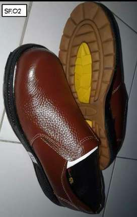 Sepatu Kulit Safety 100% Kulit Asli. Tahan Api. Stok Ukuran 38/39