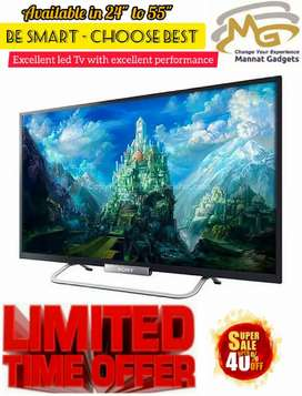 32 inch smart LED TV (Elegant design + powerful sound)