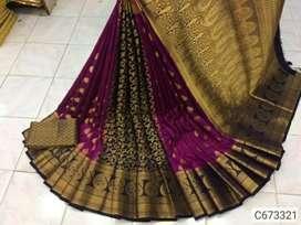 Banarasi Silk Zari weaving Regular Saree