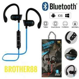 Headset sport wireless bluetooth musik anti jatuh-Mantap suaranya