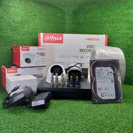 Paket CCTV dahua 4 camera plus pemasangan