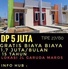 Rumah siap Huni Cukup 5,5 sj sudah bisa miliki rumah ,angsuran 1,5 an