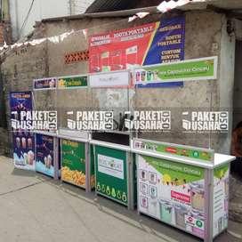 -Dijual Booth Portable / Meja Lipat / Booth Makan&Minum = susu hitam