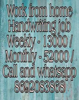 Manual Handwriting Job