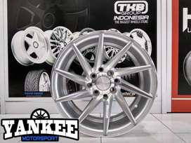 Velg Mobil HSR CIAO Ring 15 PCD  4 Silver Machine Face