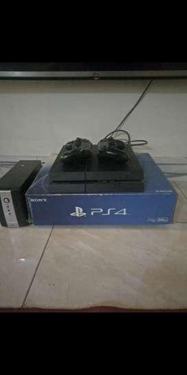 Playstation 4 Fat 500GB + 2 Stik ORI