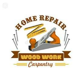 Any tyips carpenter Works small repairing works Rs300 minimum