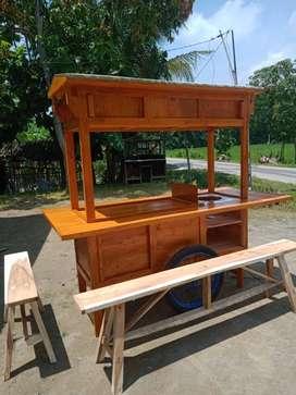 gerobak angkringan murah free ongkir cod 1195