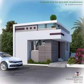 villas for sale ## near sriperumbudur toll plaza ##