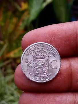 Koin silver/perak..nederland indie, 1945