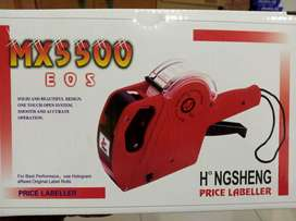ASIBT MX5500 EOS Red 8 Digits Pricing Gun Kit Labels & Spare Ink.