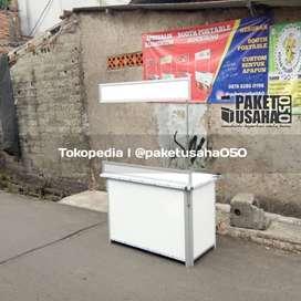 booth portable container gerobak lipat kualitas oke