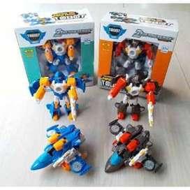 Mainan Tobot Mini Transformable Robot
