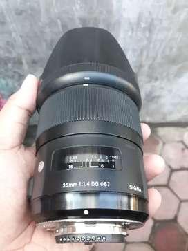 Lensa sigma art 35mm f 1.4 for nikon