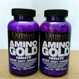 Ultimate Nutrition Ultimate Amino Gold 250 Tablet BPOM Amino Isolate.