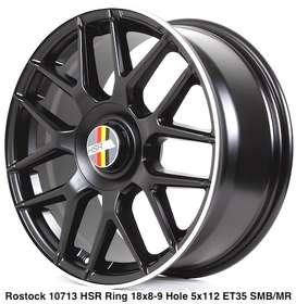 Pelek baru ROSTOCK 10713 HSR R18X8/9 H5X112 ET35 SMB/ML