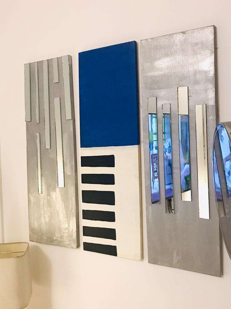 Stylish painting with mirrors 0