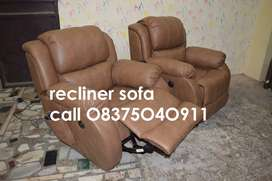 Push Back RECLINERS Sofa with Cup holders arms, Brand New Single seat