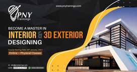 Become a Master in Interior and 3D Exterior Designing