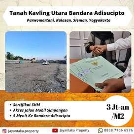 Tanah Kalasan Murah Sertifikat SHM Dekat Bandara Adisucipto