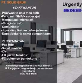 Lowongan Pekerjaan Staff Kantor