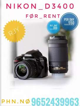 NiKoN D3400 camera  RENT** ONLY FOR 500 PER DAY