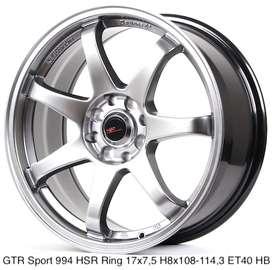 jualan GTR SPORT 994 HSR R17X75 H8X108-114,3 ET40 HB