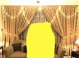 Drawing curtains