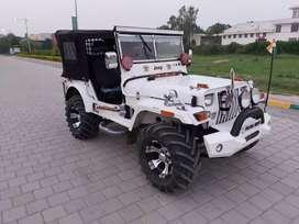 Modified white jeep