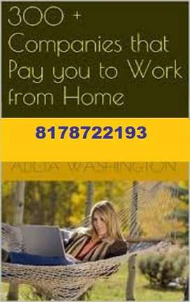 Data Entry Operator, Computer Operator, Work from Home, Part-time Job