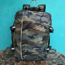 Tas punggung traveling backpacker army second mulus ya