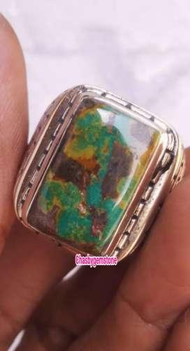 Cincin batu pirus Persia Mulycolour-Pirus Persie Jadul Warna Warni