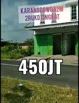 Ruko dkt pasar karangdowo jual 450jt