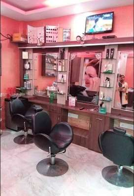 BEAUTY PARLOUR COMPLETE SETUP WITH GOODS
