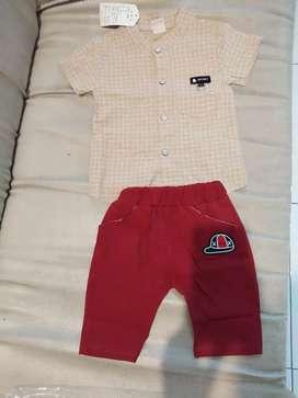 baju setelan stelan bayi anak laki laki