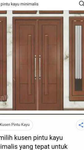 Pintu kayu minimalis,pintu engenering,pemasangan pintu dan finishing