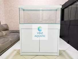 Aquarium Cabinet 100cm (kaca Full 8mm)