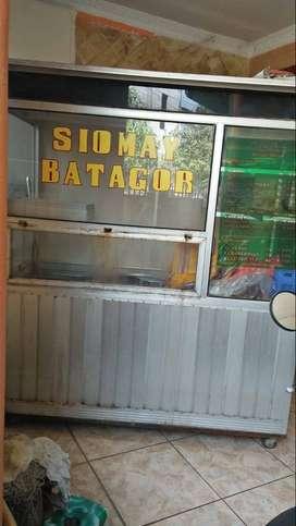 Gerobak Alumunium Ex Siomay & Batagor