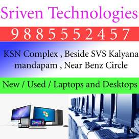 used laptops and desktops - SRIVEN TECHNOLOGIES benz circle VIJAYAWADA