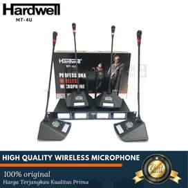Mic Wireless Podium 4 Channel HARDWELL MT 4U ORIGINAL Mic Conference