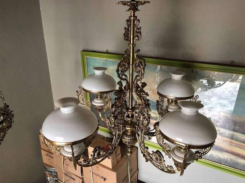 Lampu gantung hias gentor klasik antik repro lampu masjid lampu joglo 0