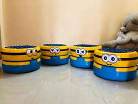 Minion/batman/customised tyre chair /stool/gaming chair/recycled chair