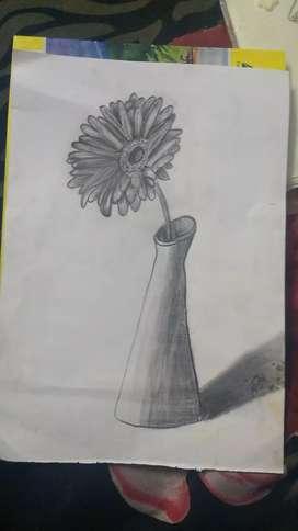 Flower vase  Sketching