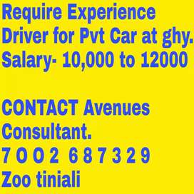 Urgently require private Driver with valid driving license