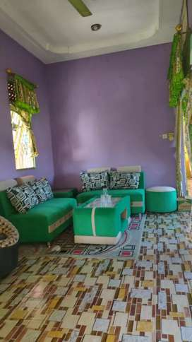 Sofa minimalis 1 set ijo