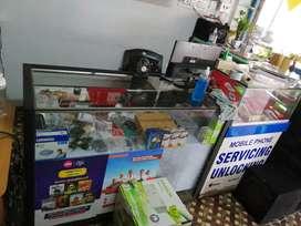 Mobile shop display counter