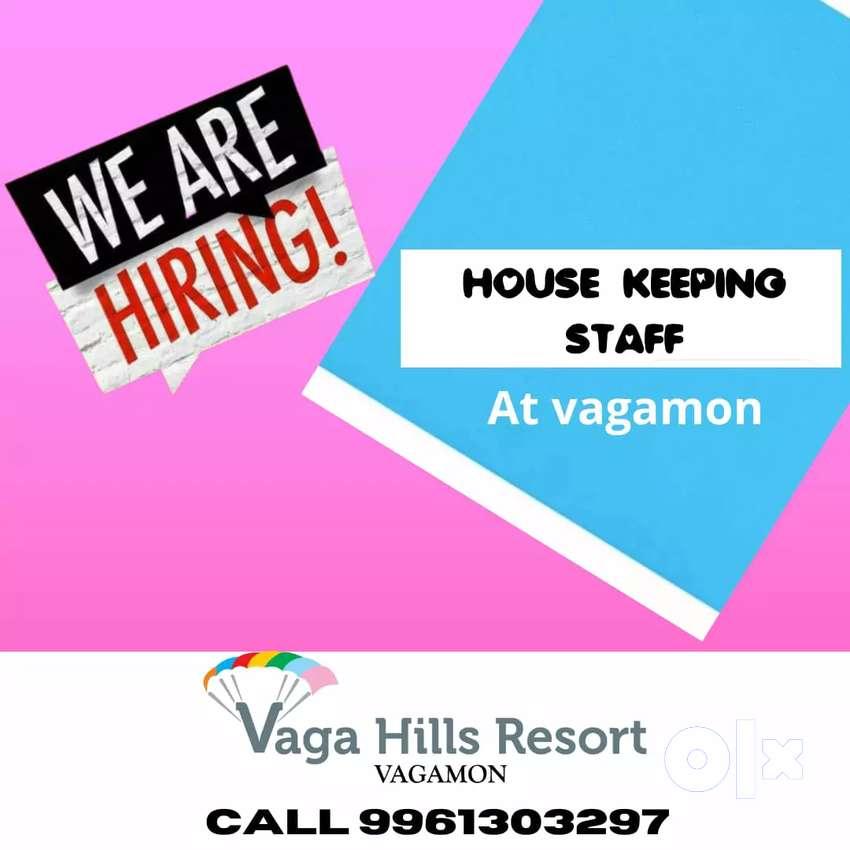 House keeping staff at Vagamon Resort