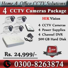 HIK Vision's Camera Package (4 CCTV Camera Package)